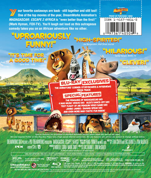 Madagascar Escape 2 Africa Blu Ray Specs And Cover Art Thehdroom