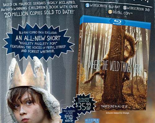 Where The Wild Things Are Blu-ray Release Date and First ...