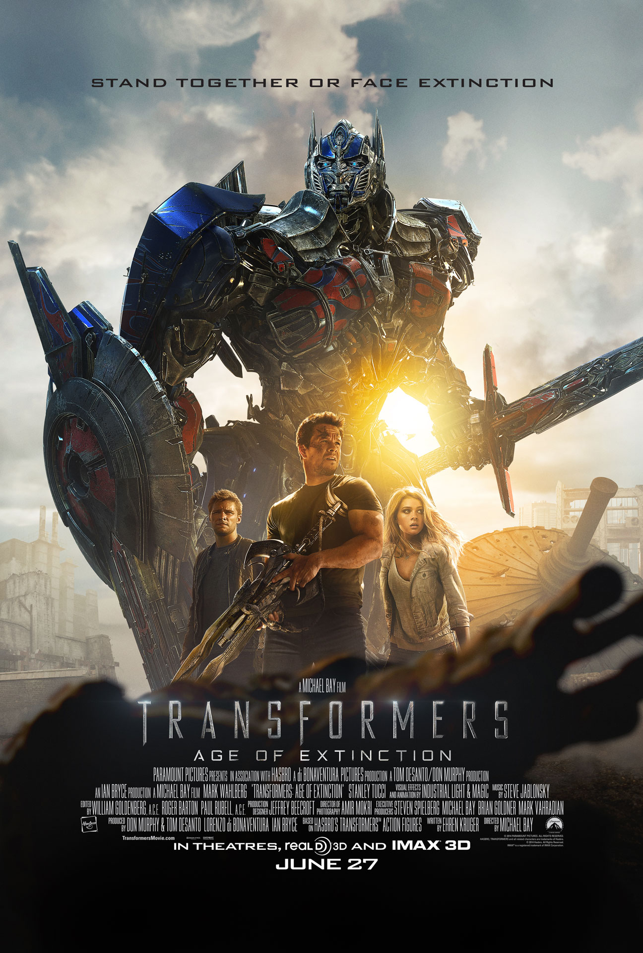 Transformers Age Of Extinction Gets New Poster And Looks At Optimus Prime And Bumblebee Thehdroom