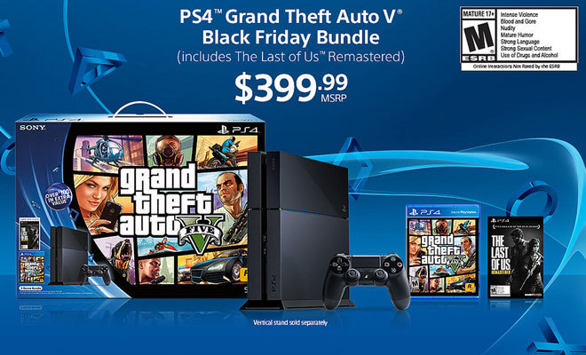 PS4 Black Friday 2014 Deals: Sony Offering PS4 Bundles with Free