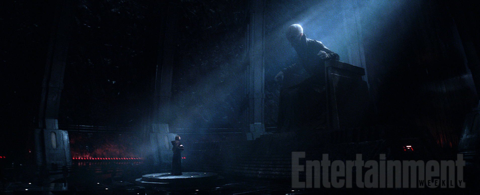 Supreme Leader Snoke and Maz Kanata Pictures from Star ...