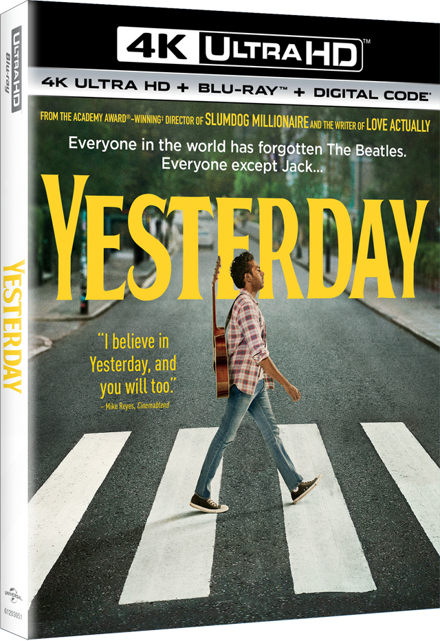 'Yesterday' 4K, Blu-ray, DVD, Digital Release Dates And